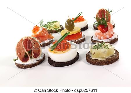 Stock Photography of Hors d oeuvre.