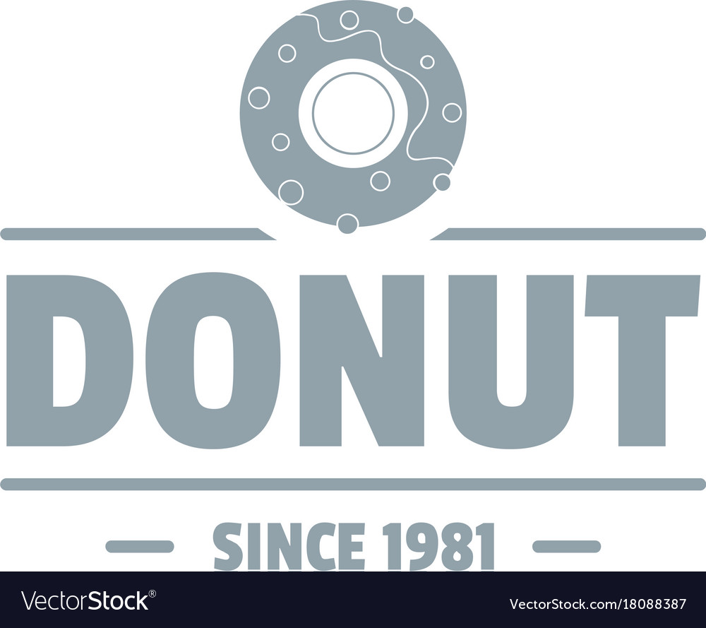 Donut logo simple gray style.