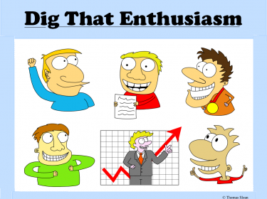 Enthusiastic clip art characters (digital file), 'Dig That.