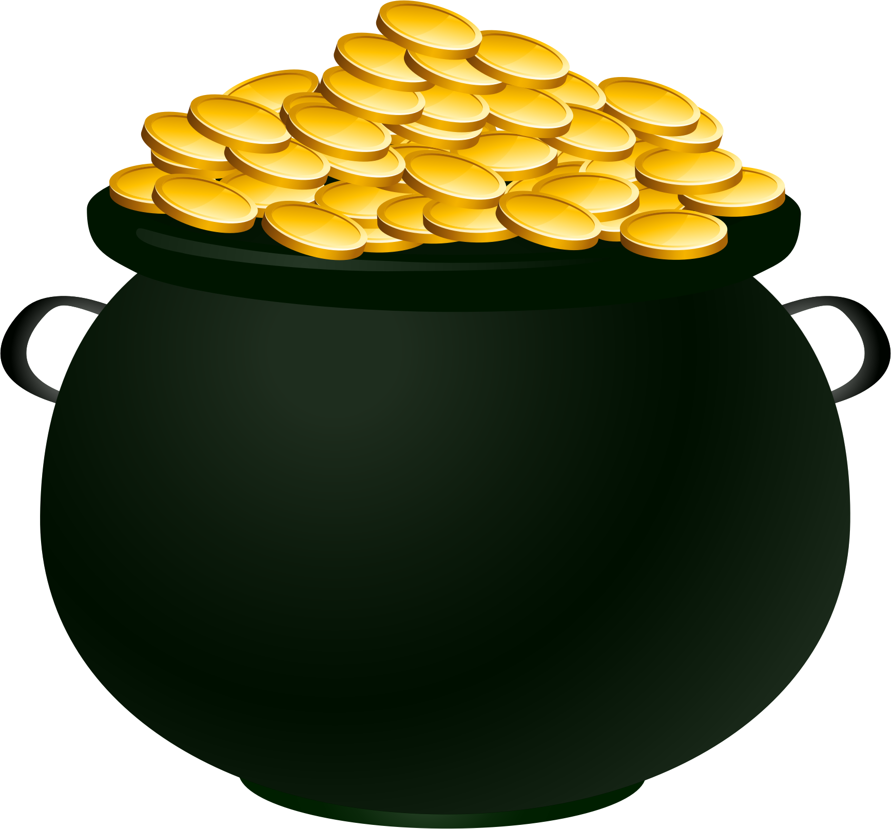 Free leprechaun pot of gold clipart.