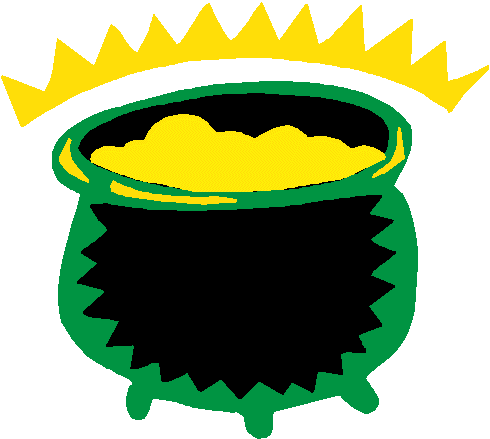Green pot of gold free clipart.