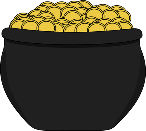 Pot of Gold Clip Art.