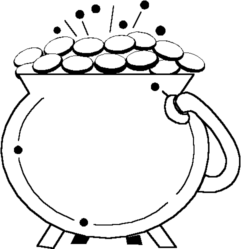 Free Pot of Gold Clipart.