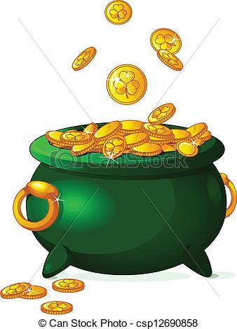 Pot of gold Illustrations and Clip Art. 2,376 Pot of gold royalty.
