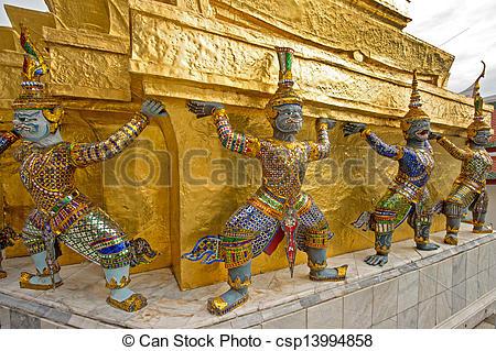 Stock Images of Mythological figure of the indian epic ramayana.