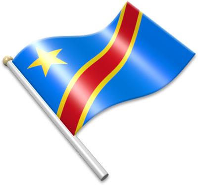 Congo republic of the flag clipart.