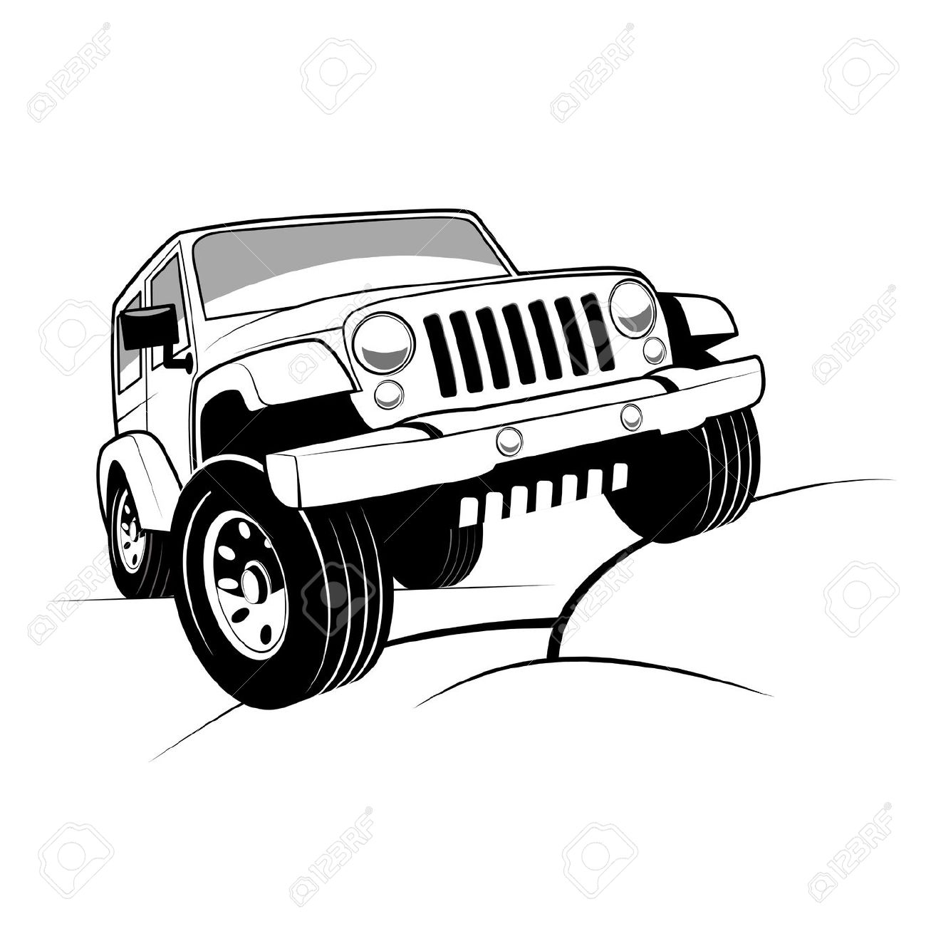 Jeep off road clipart.