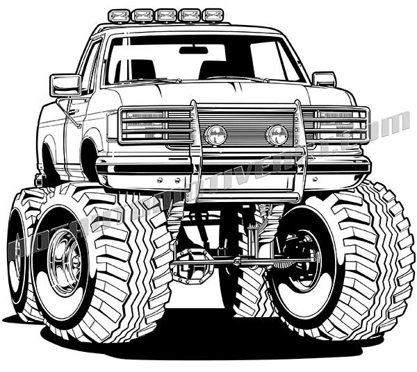 Lifted 4x4 Pickup Truck #1 Vector.