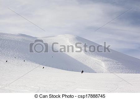 Stock Photo of On and Off Piste Ski Slopes in Niseko, Japan.