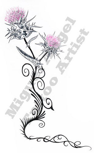 1000+ images about Thistle Tattoos on Pinterest.
