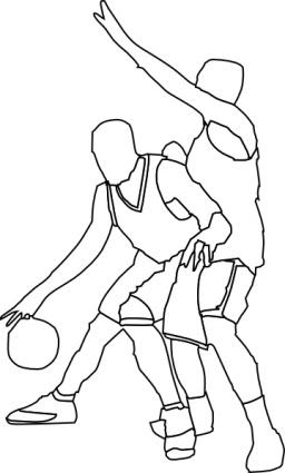 Basketball Offense And Defense, Clip Arts.