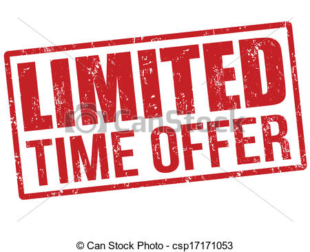 Clip Art Vector of Limited time offer, hurry up stamp.