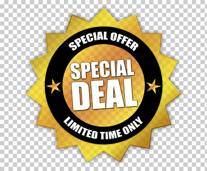 Limited Offer , gold and black special deal art PNG clipart.