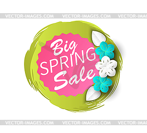 Big Spring Seasonal Sale Discount Offers Banner.