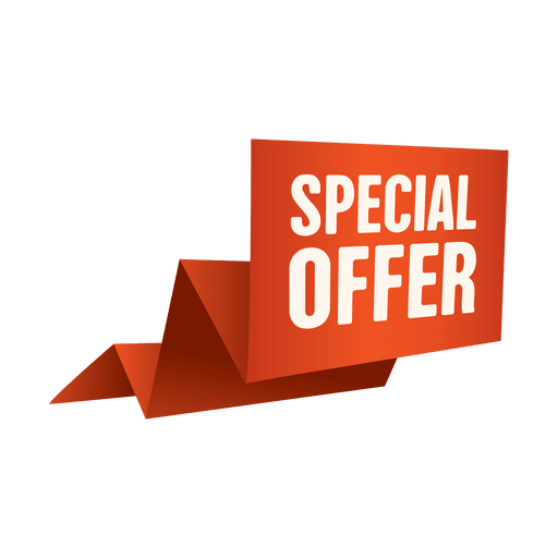 Origami special offer sale banner.