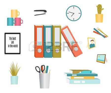 20,725 Office Accessories Cliparts, Stock Vector And Royalty Free.