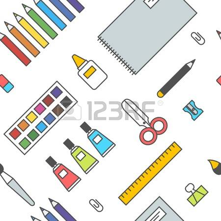 37,554 Office Supplies Stock Vector Illustration And Royalty Free.