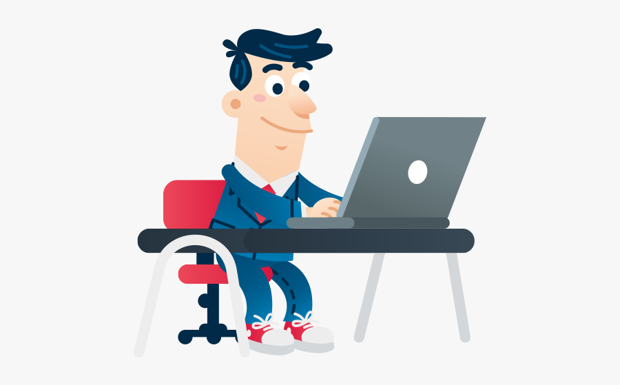Office Work Cartoon Png , Free Transparent Clipart.