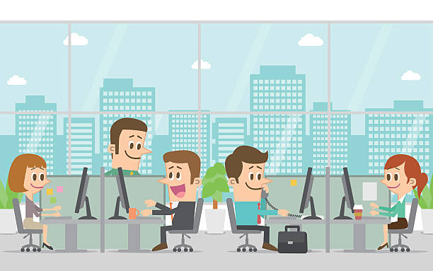People Working In Office Clipart.