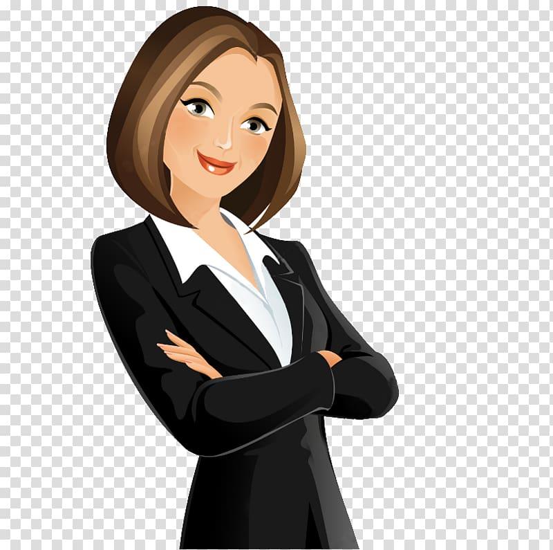 Woman wearing executive attire illustration, Cartoon.