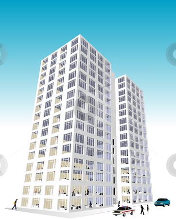 Skyscrape Office Block stock vector.