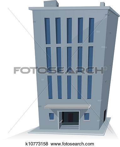 Clip Art of Apartments And Offices Building k8453849.