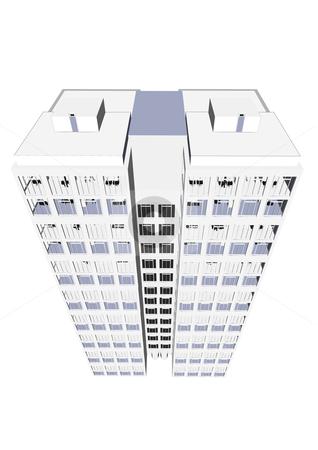 Skyscraper Office Block stock vector.