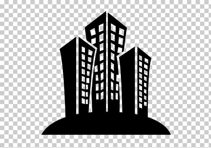 Building Computer Icons Black and white , office building.