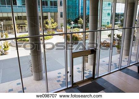 Picture of Attractive courtyard patio area as seen through the.