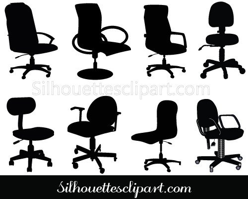 Office Chair Clip Art Pack Download Chair Silhouette.