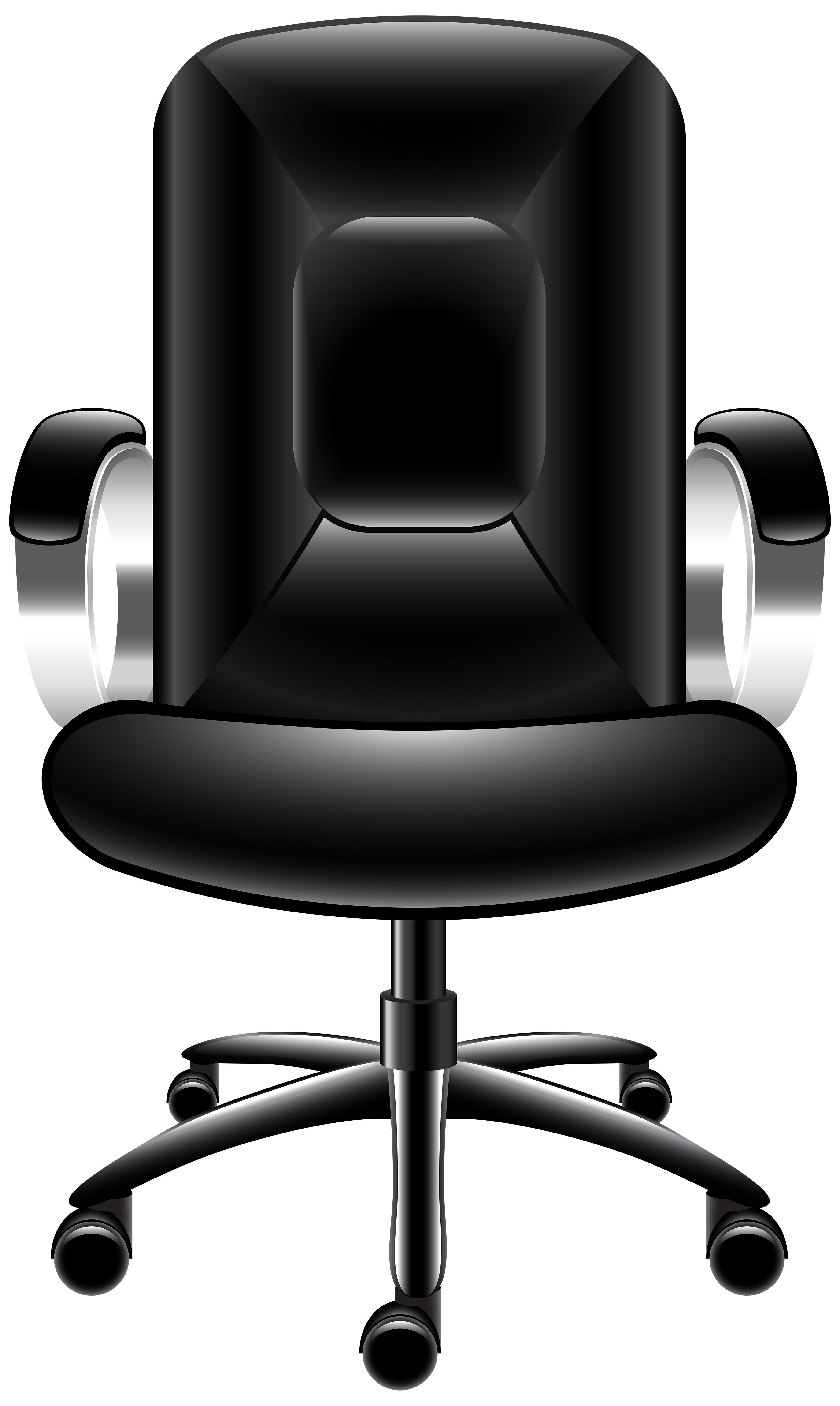 Office Chair Top View Clipart.