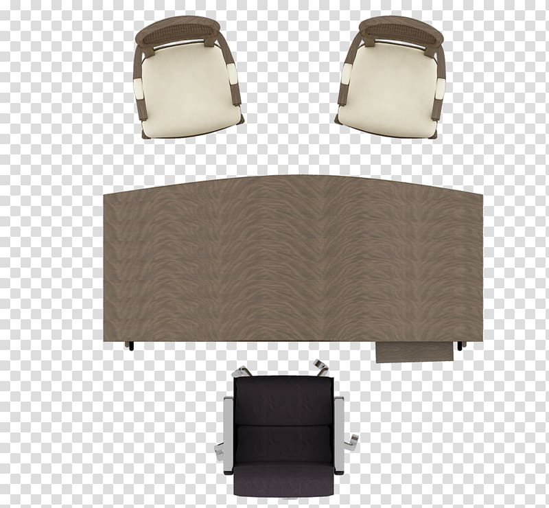 Brown wooden desk and chairs illustration, Table Furniture.
