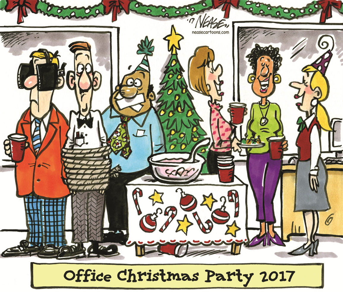 Office Christmas Party 2017 : editorialcartoons.