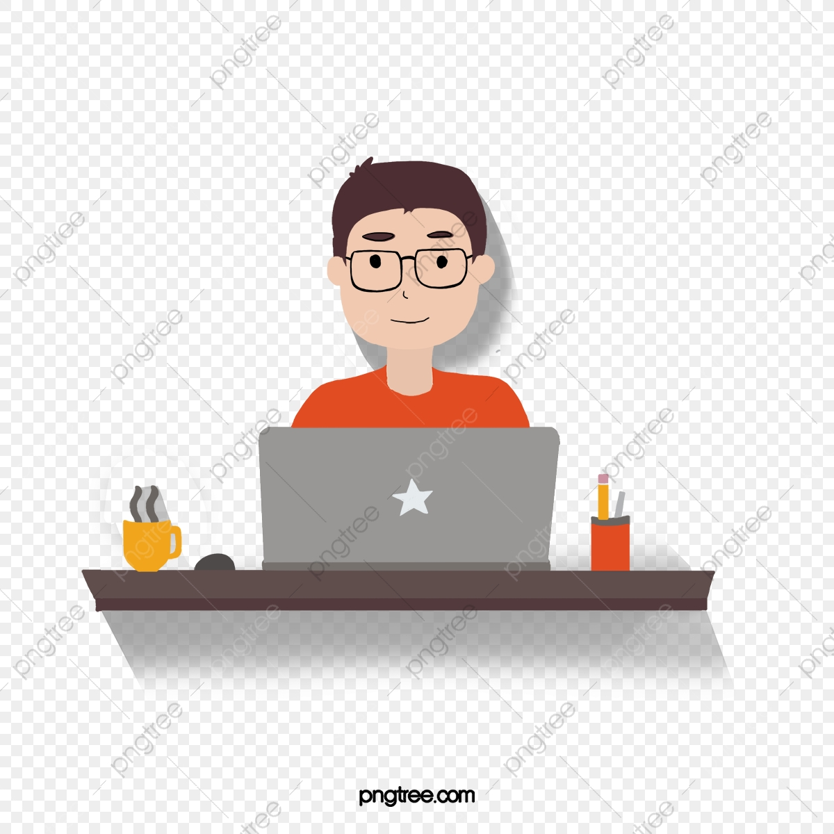 Office Figures, Office Clipart, Computer, Table PNG.