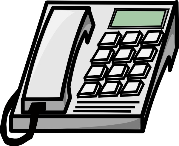 Office Phone clip art Free vector in Open office drawing svg.