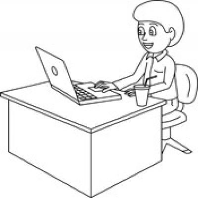 Office Clipart Black And White.