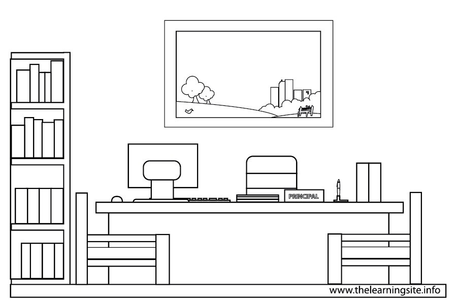 Principal\'s Office Clipart Black And White.