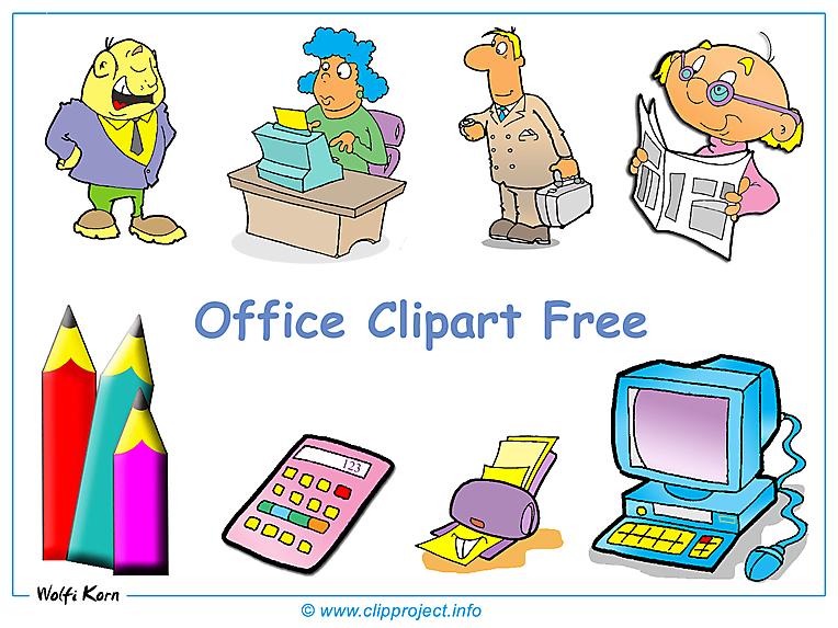 Office Clipart Bilder kostenlos.