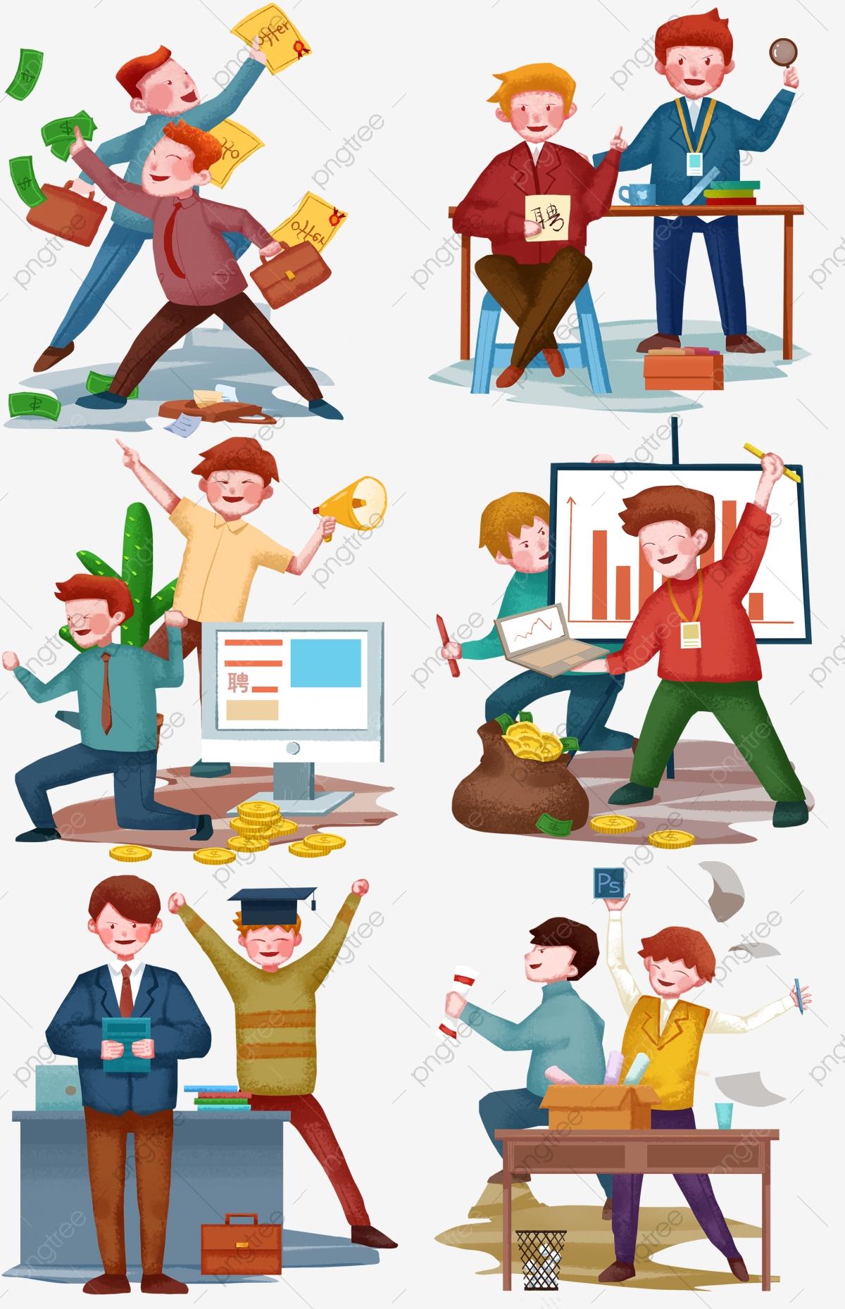 Staff Illustration Hand Drawn Recruitment Location Office.