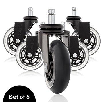 Amazon.com: Office Desk Chair Replacement Caster Wheels Set, Heavy.