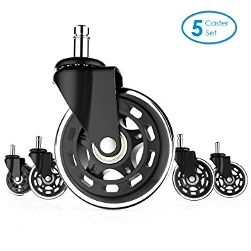 Amazon.com : Office Chair Casters Wheels Replacement Rollerblade.