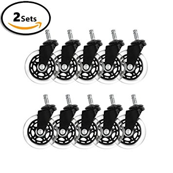 Amazon.com: Office chair wheels replacement rubber chair casters.