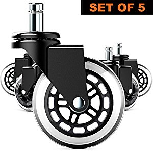 Amazon.com : Replacement Office Chair Wheels (Set of 5) Premium.