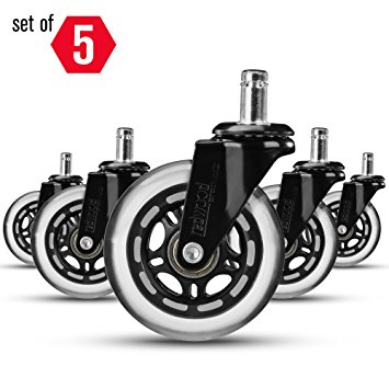 Amazon.com: Office Chair Caster Wheels Replacement (Set of 5.