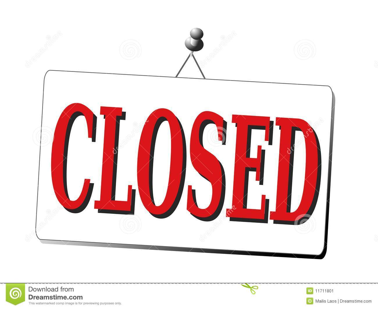 Download Office Closed Clipart.
