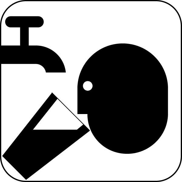 12 Drinking Water Icon Images.