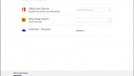 How to Insert Online Pictures in Word 2013.