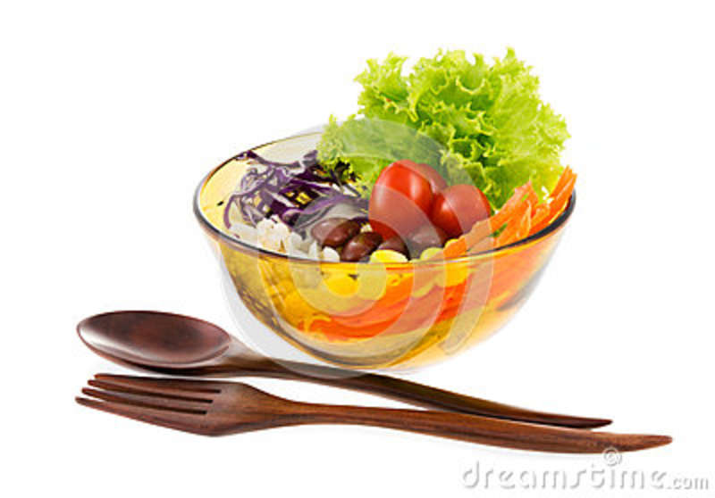 Salad In A Bowl Clipart.