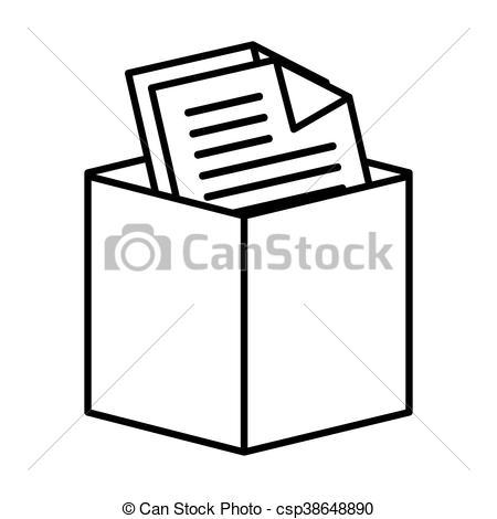 Office documents box icon vector illustration.