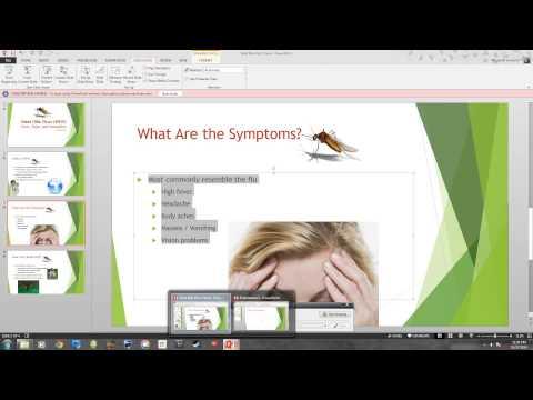 Microsoft 2013 Essential Powerpoint Lab 1 West Nile Virus.